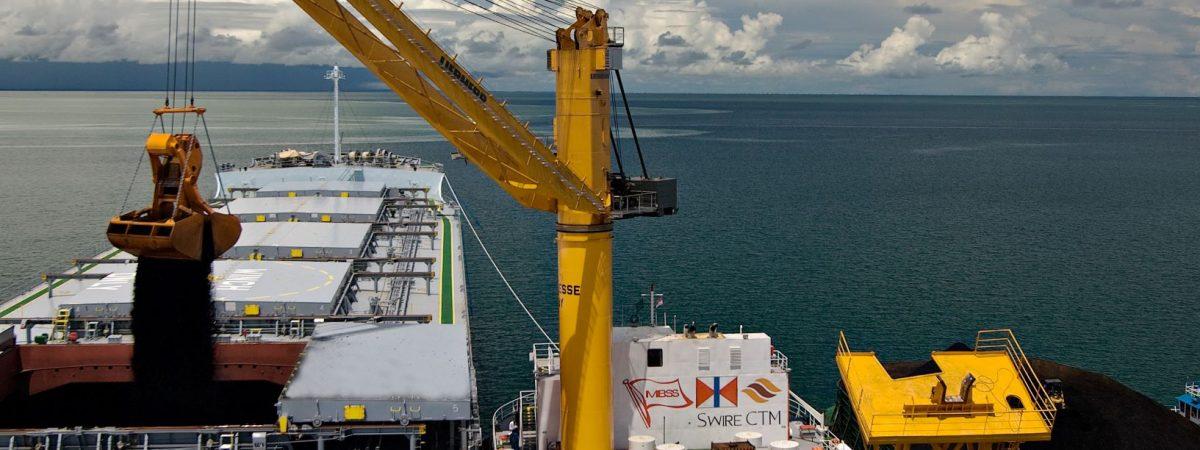 Design of offshore floating crane transhipper